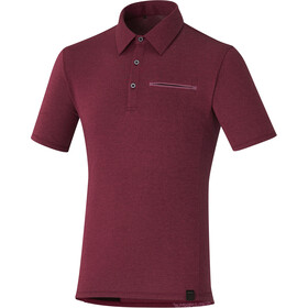 Shimano Transit Polo Shirt Men zinfandel